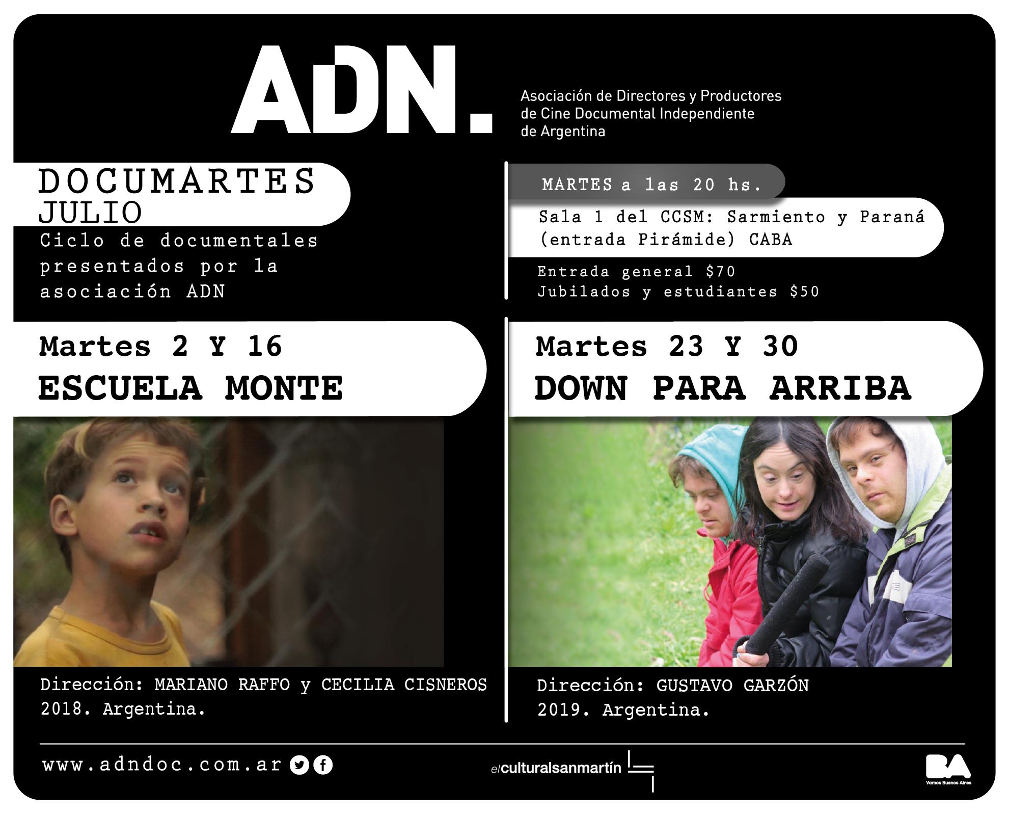 DOCUMARTES I PROGRAMACIÓN JULIO 2019 EN EL SAN MARTIN